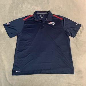 NEW ENGLAND PATRIOTS Polo Shirt Men's Nike DriFit